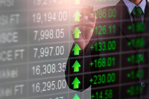 Mercato azionario e uomo d'affari