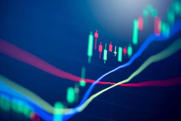 Mercato azionario digitale grafico grafico business borsa valori analisi di investimento finanziario