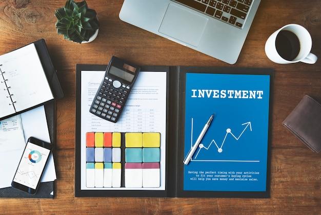 Grafico degli investimenti di economia di borsa del mercato azionario
