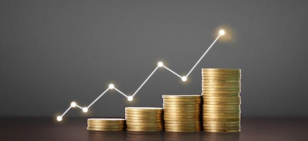 Grafico del candeliere del grafico del forex trading del mercato azionario adatto per il concetto di investimento finanziario, il grafico aziendale e le monete