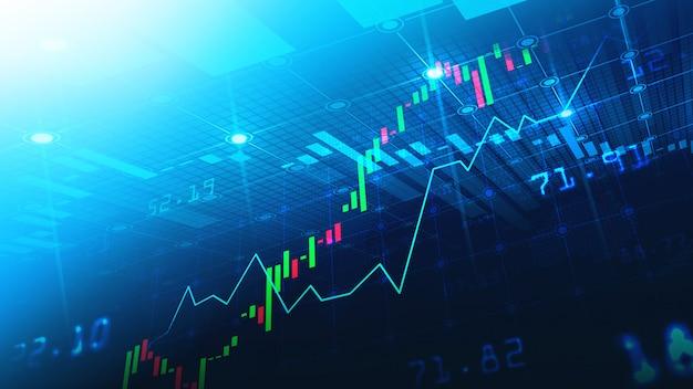 Mercato azionario o grafico commerciale forex nel concetto grafico