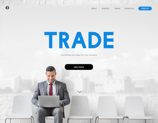 Mercato azionario commercio scambio di finanza forex concept