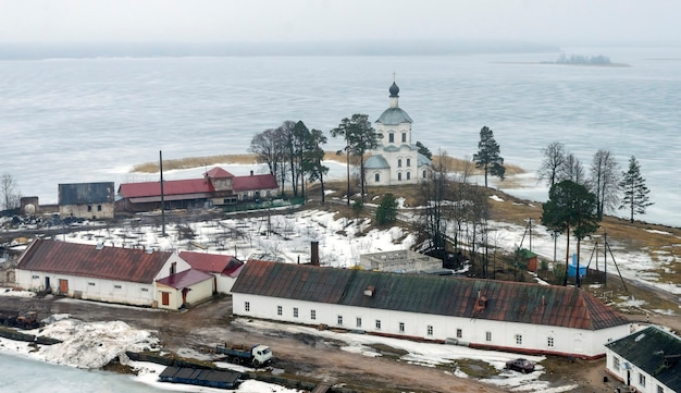 Isola di stolobny, lago seliger, russia