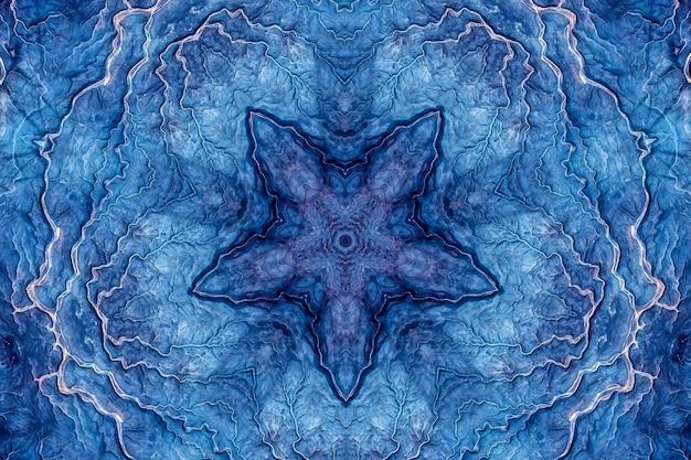 Pietra agata lapislazzuli minerale blu, marmo acquerello marino, motivo ripetuto a taglio geometrico. illustrazione di uno sfondo con motivo a trama di pietra rotonda