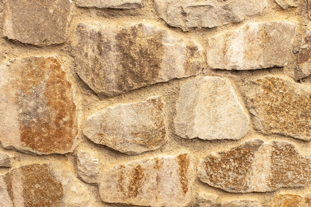 Recinzione in pietra o muro, trama di sfondo primo piano