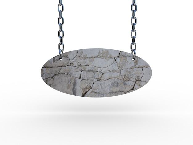 Segno di pietra sulle catene