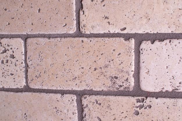 Struttura di pietra con dettaglio di struttura della parete briks