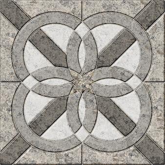 Piastrelle in pietra. piastrelle in marmo decorativo con uno scorcio. elemento di design. trama di sfondo