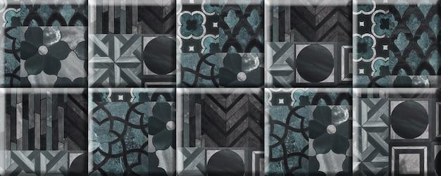 Piastrelle in pietra per la decorazione della parete con un motivo astratto. elemento per l'interior design