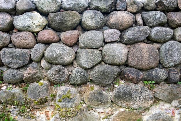 Muro di pietra. vecchio muro del castello.
