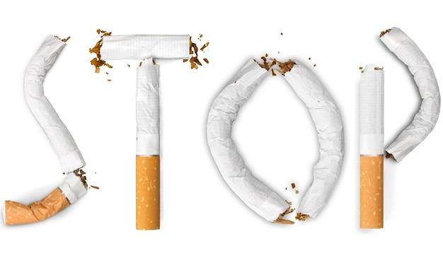 Smetti di fumare concetto