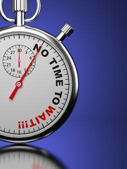Cronometro con slogan