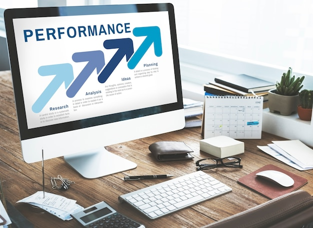 Strategia business planning analisi concept