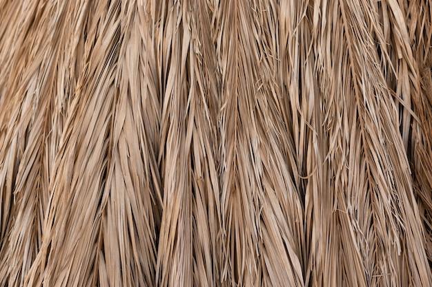 Sfondo di paglia da foglie di palma