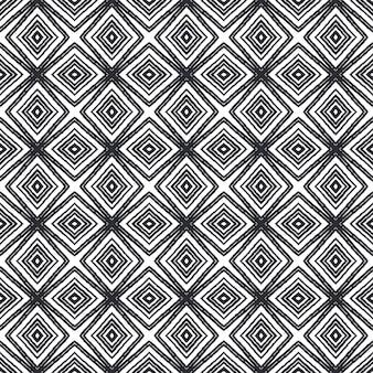Motivo a strisce disegnato a mano. sfondo nero caleidoscopio simmetrico. ottima stampa tessile pronta, tessuto per costumi da bagno, carta da parati, involucro. ripetizione delle mattonelle disegnate a mano a strisce.
