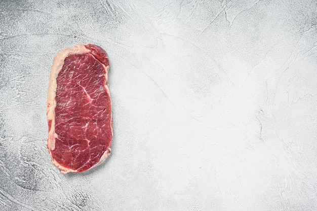 Spazio grezzo della copia della bistecca di controfiletto