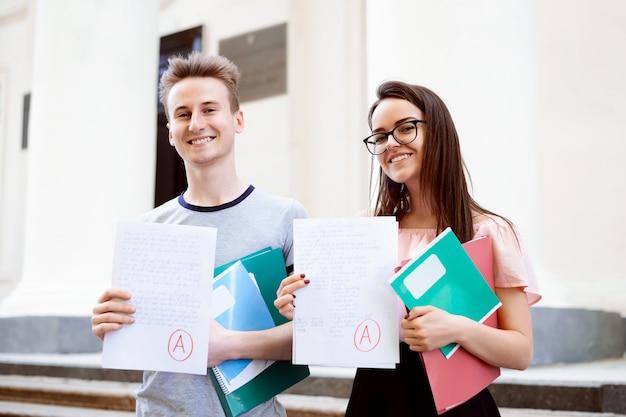 Gli studenti hanno ricevuto ottimi risultati per l'esame finale