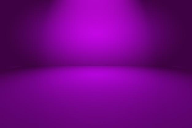 Concetto del fondo dello studio - fondo viola chiaro vuoto astratto della stanza dello studio di pendenza.