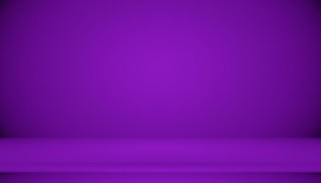 Concetto di sfondo dello studio - sfondo della stanza studio viola sfumato scuro per il prodotto.