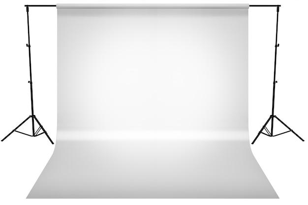 Studio nero goccia gradiente grigio chiaro con tela bianca