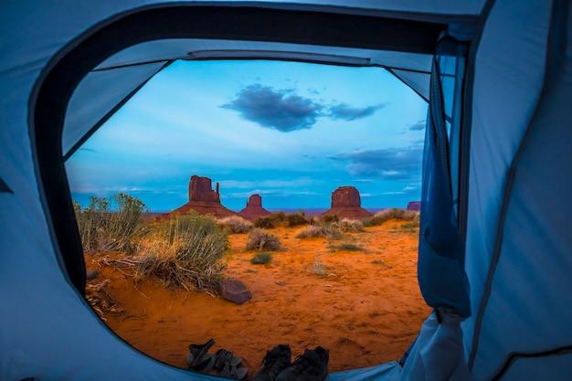 Le viste mozzafiato dal campeggio the view campground nella stessa monument valley.