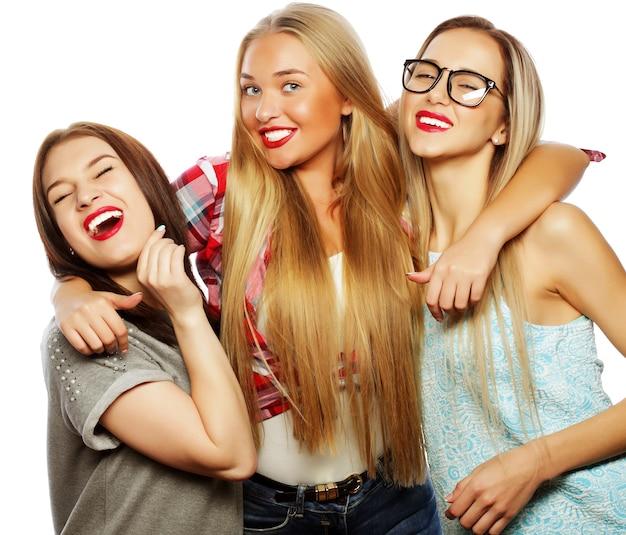 Migliori amici alla moda pronti per la festa Foto Premium