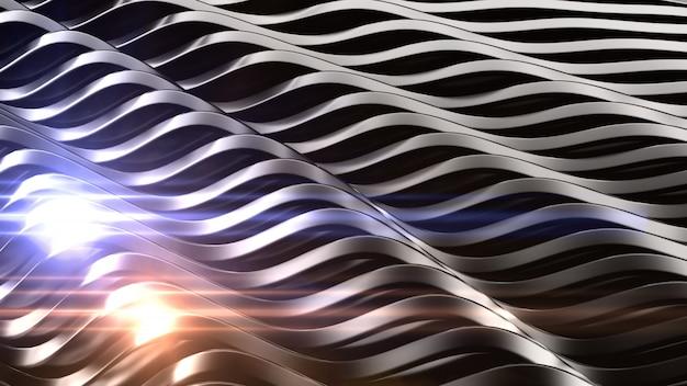 Elegante sfondo nero con riflesso lente. rendering 3d.