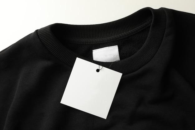 Elegante felpa nera vuota