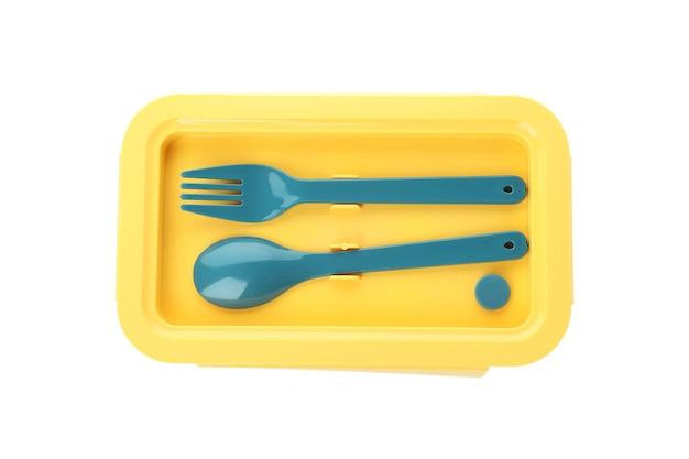 Elegante scatola per il pranzo isolata su sfondo bianco