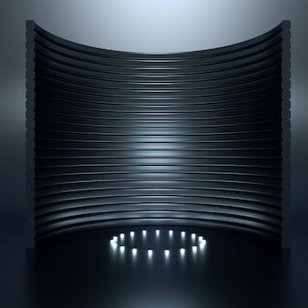 Fondo elegante di lusso elegante del piedistallo dello studio. illustrazione 3d, rendering 3d.