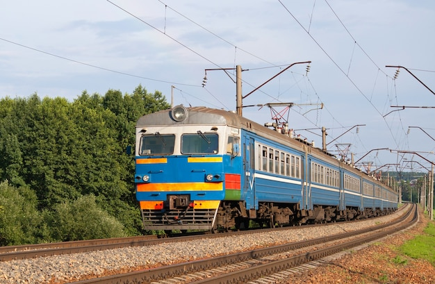 Treno suburbano in bielorussia