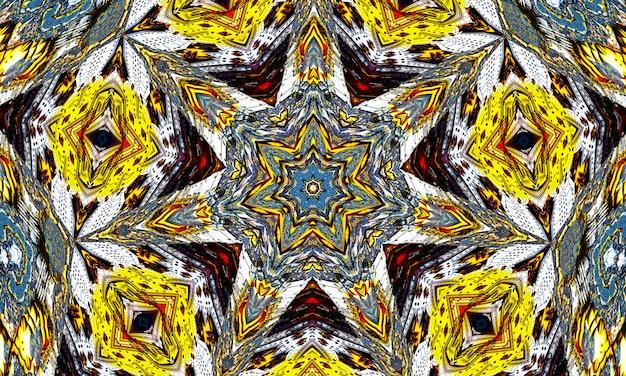 Caleidoscopio giallo zolfo. fondo senza cuciture dal minerale di zolfo naturale. pentagramma dell'inferno.
