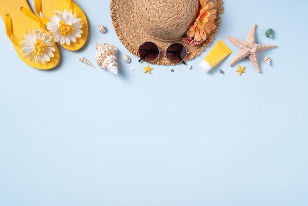 Concetto di design di sfondo spiaggia estiva