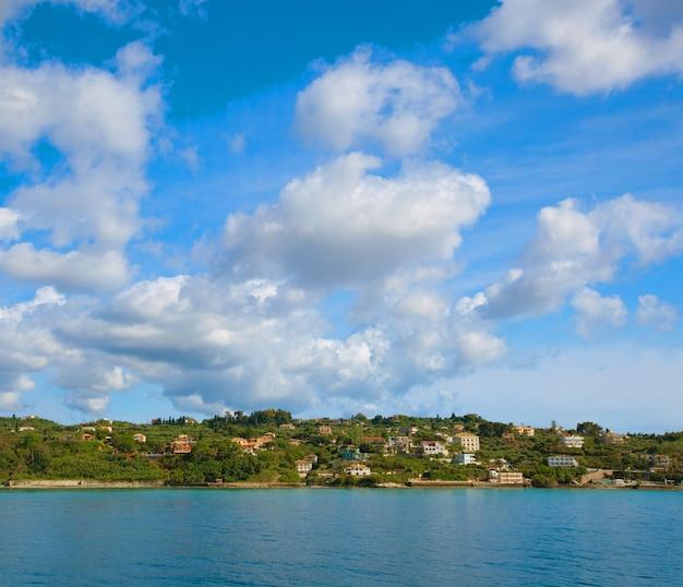 Giornata estiva, grecia, isola di zante - mare, cielo, vacanza