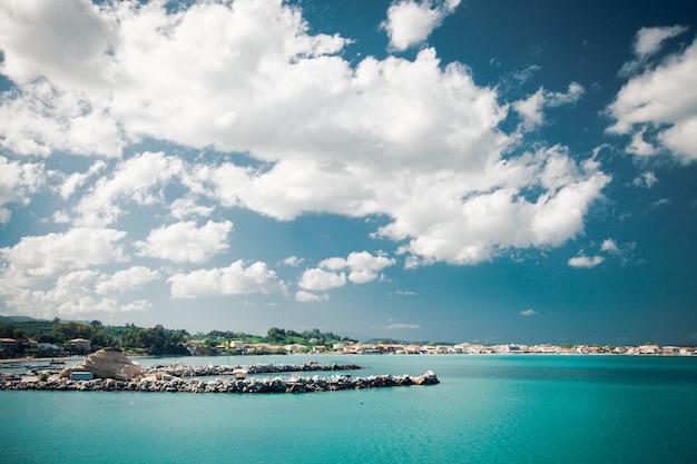 Giorno d'estate, grecia, isola di zante - mare, cielo, vacanza.