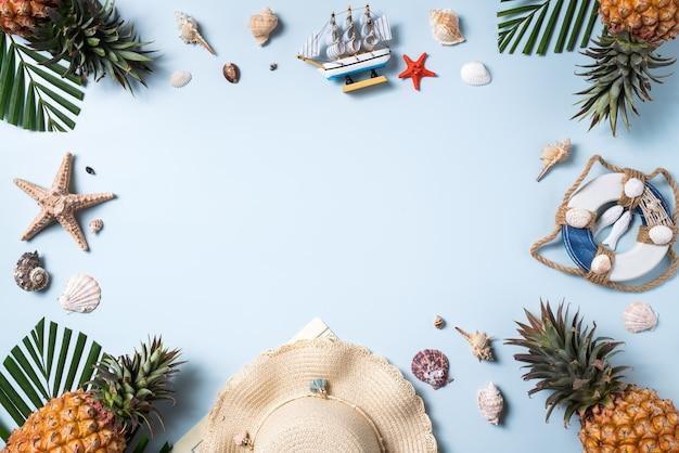 Concetto di design di sfondo di frutta estiva