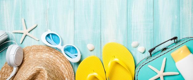 Vacanze estive e sfondo di viaggio