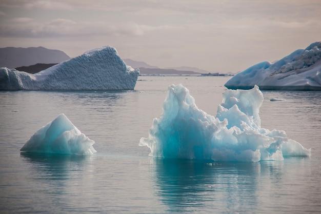 Paesaggio estivo nei fiordi di narsaq, groenlandia sud-occidentale Foto Premium
