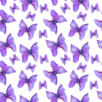 Modello estivo con farfalle viola