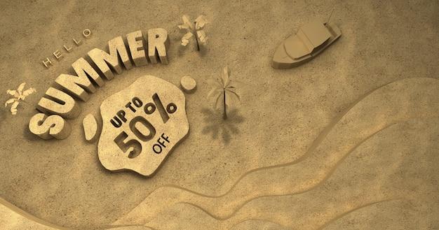 Poster 3d saldi estivi