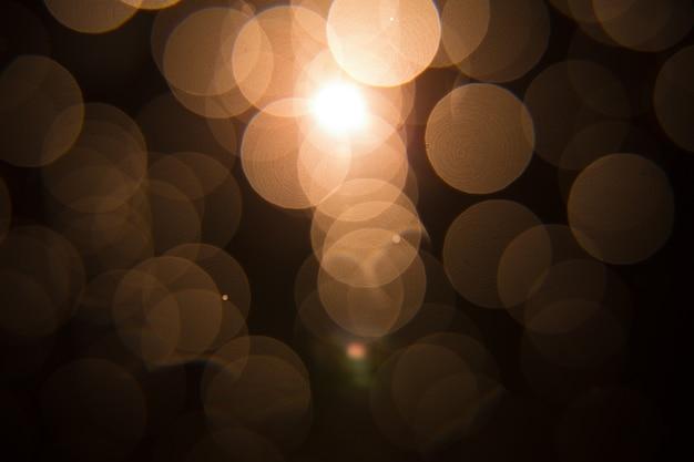 Sun flare sul design oggetto nero.