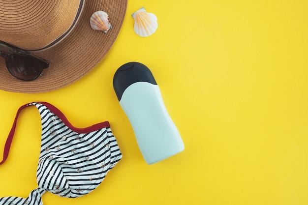 Protezione solare, concetto di cura della pelle estiva