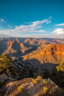 Tramonto al powell point del grand canyon