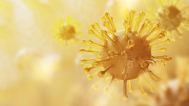 Super closeup coronavirus covid-19 nel polmone umano
