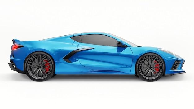 Automobile sportiva eccellente su un fondo bianco. illustrazione 3d.