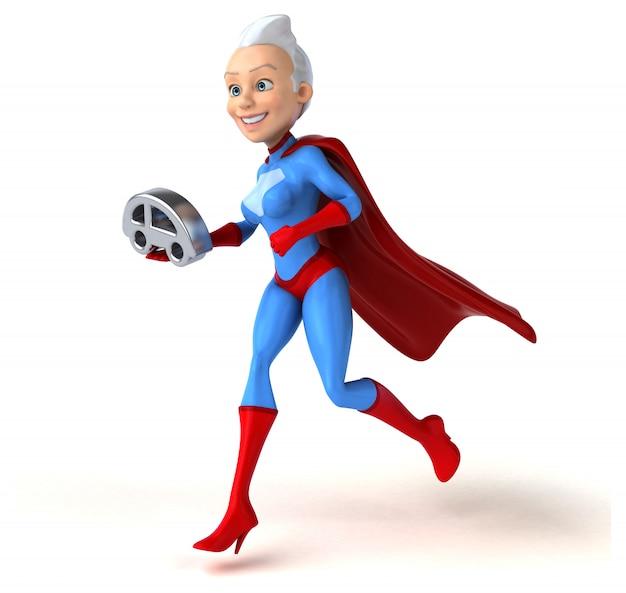Personaggio super donna isolato