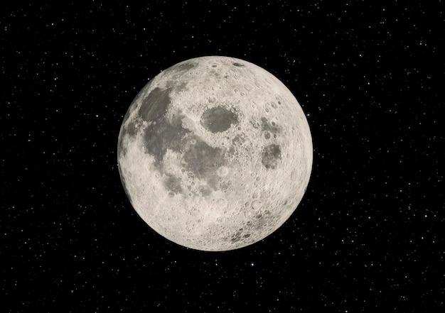 Super zoom della luna piena