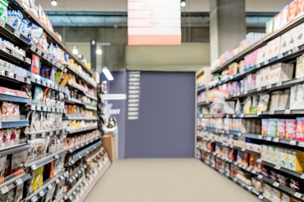 Corridoio del supermercato, immagine hd della sezione dei cereali