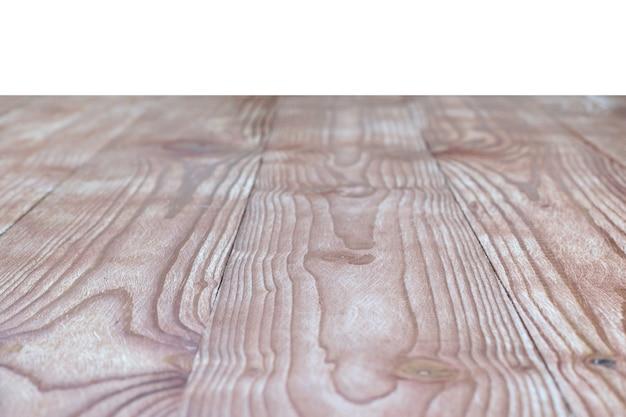 Il piano del tavolo è in legno trattato