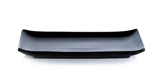 Piatto di sushi su sfondo bianco